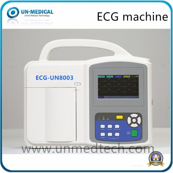 Hospital 3 Channels ECG Machine Electrocardiograph with Thermal Paper