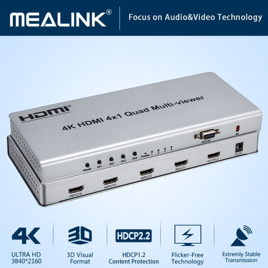4K V2.0 HDMI Switch 4X1 with Remote Control