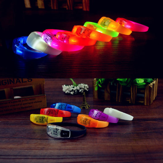 LED Flashing Voice Activated Sound Contro Bracelet pictures & photos