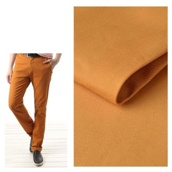98% Cotton 2% Spandex Tackle Twill Stock Fabric for Pants