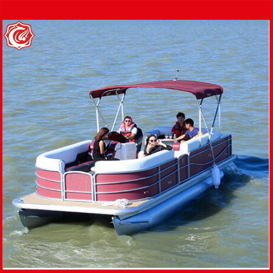 27FT Multifunctional and Recreational Floating Aluminum Pontoon Boat