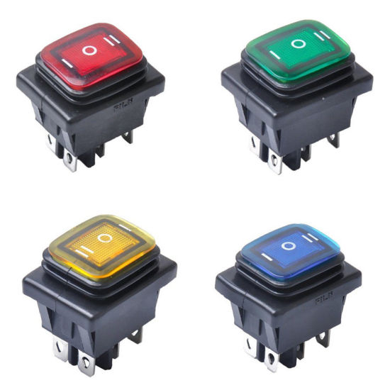 3Position On-Off-On 6Pin DC 12V Waterproof Car LED Rocker Switch Latching A2TD