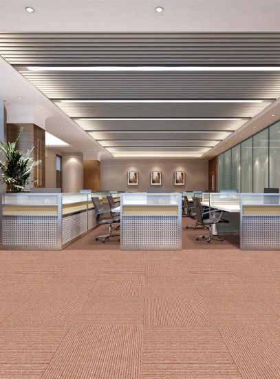 Interface Classical Nylon PP Commercial Tile Carpet For Office Hospital School Supermarket Hotel