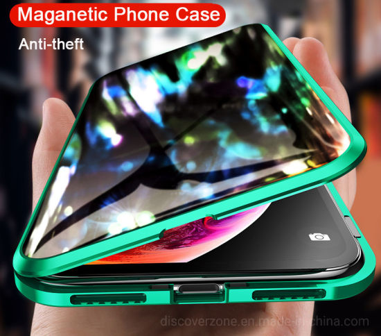 for iPhone 11 Case Magnetic Adsorption Phone Case Metal Magnet Tempered Glass Cases for iPhone 11 PRO Max