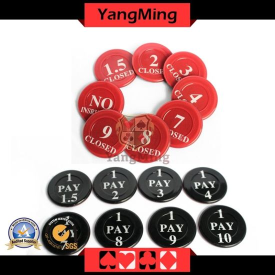 Factory Custom Casino Poker Table Dedicated Plastic Insurance Code for Set 40mm (YM-NC01) pictures & photos