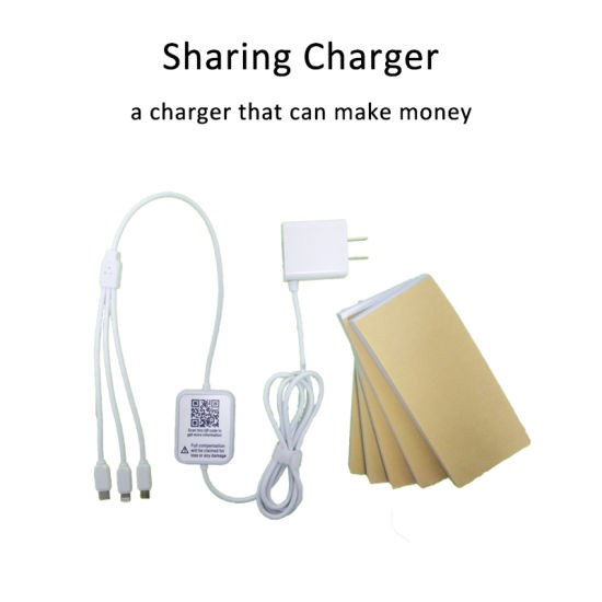 Public Wall-Mounted 3 in 1 Share Charger Rental Cable with 5 Charging Code Books Payment Kiosk for Hotel