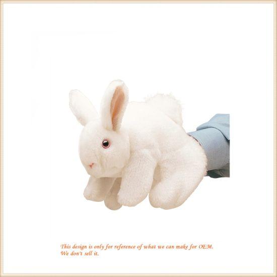 Soft Bunny Puppet Wholesale Custom Made Animal Doll
