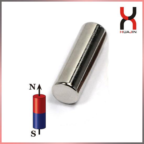 Permanent Neodymium Cylindrical Magnet in N35 N40 N42 Grade Industrial Magnet