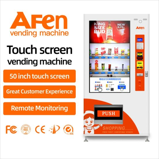 Afen Smart Electronic Combo Touch Screen Vending Machine Manufacturer