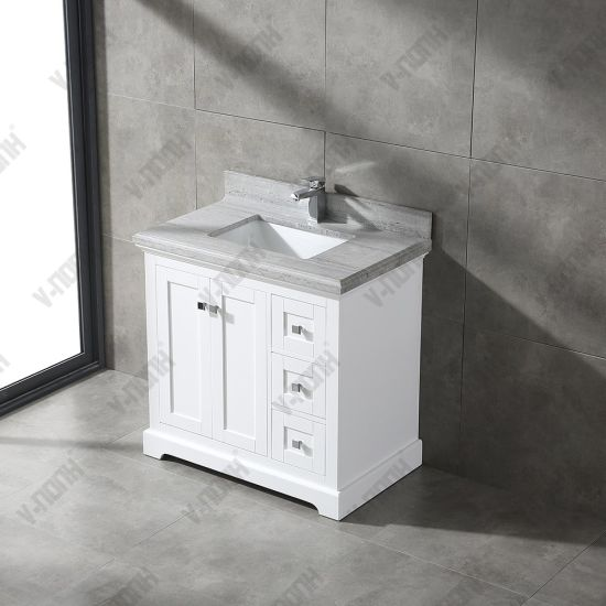 36inch White Cabinet With Marble Top