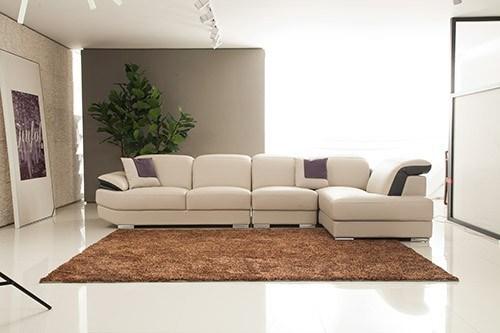 Leisure Furniture Italy Chaise Sofa L Shape Fabric Wooden Sofa