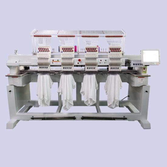 High Speed Wonyo Computerized 4 Head Embroidery Machine Price with 9 / 12 / 15 Needles