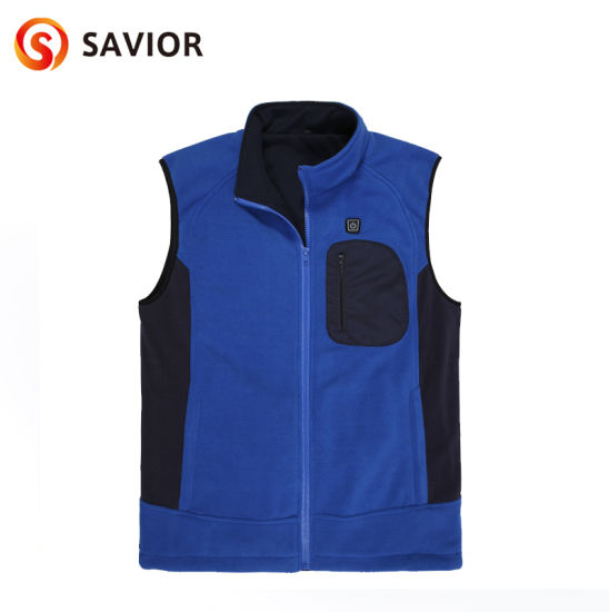 Battery Heated Vest for Men Women,Electric Rechargeable Heated Vest With 3 Levels Temperature Control,SAVIOR 7.4V and 5V Heated Vest Unisex pictures & photos
