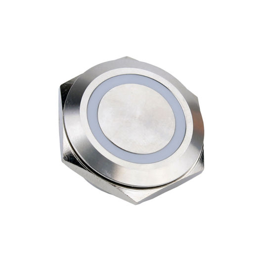 Momentary Metal IP67 Waterproof Push Button Switch with Blue Red Green Ring LED Illuminated
