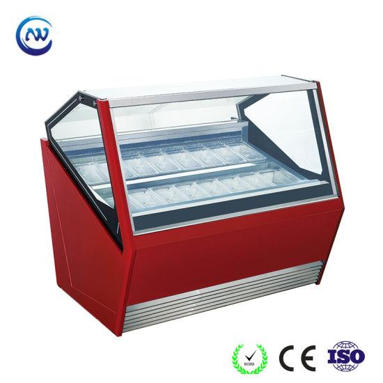 Ice Cream Display Freezer Ice Cream Gelato Showcase with Ce Qp-Bb-16