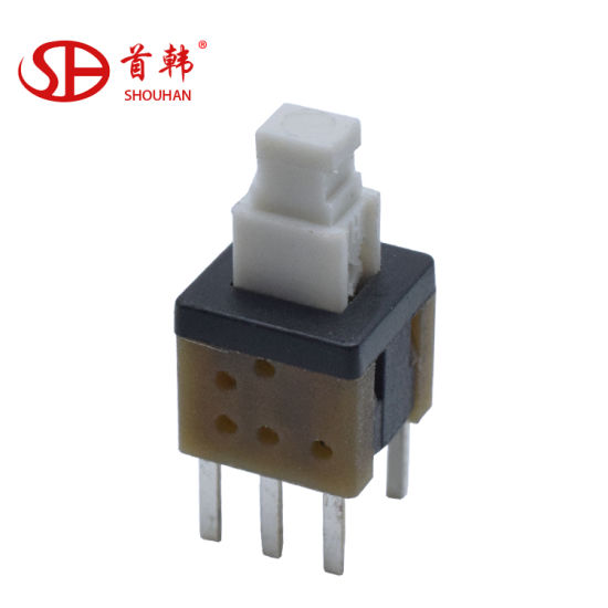 DPDT Push Button Switch Momentary Non-Locking 6 Pin DIP PCB MOUNT 7 x 7mm