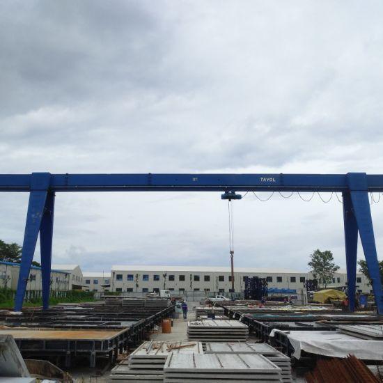 10t Hoist Lifting Equipment Single Girder Gantry Crane in Factory Yard