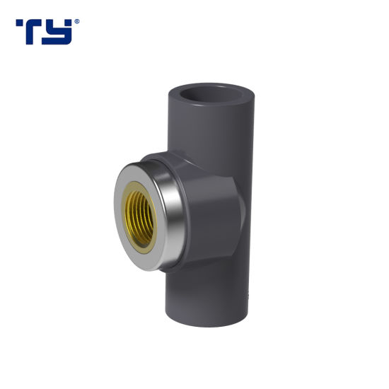 PVC ASTM Sch80 Pipe Fittings Female Tee (BRASS) Water Supply ASTM Sch80