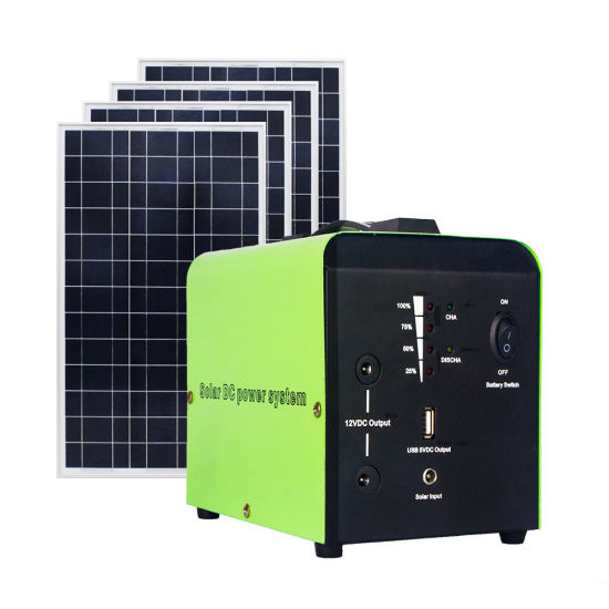12V 30W Portable Solar Power System with Built in 24ah Battery