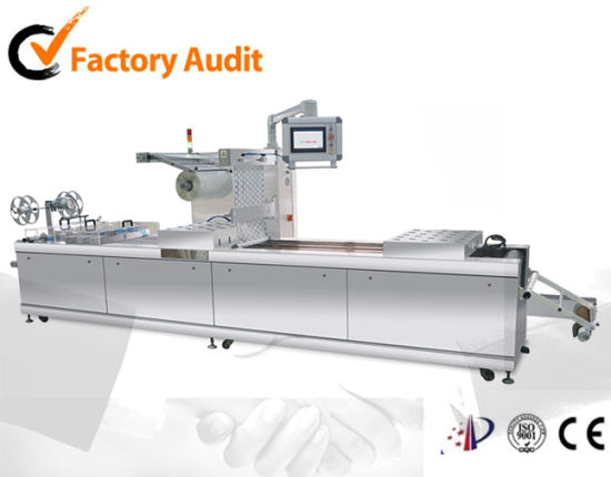 Automatic Map Tray Sealing Machine Bag Meats Food Double Chamber Vacuum Sealer Made in China