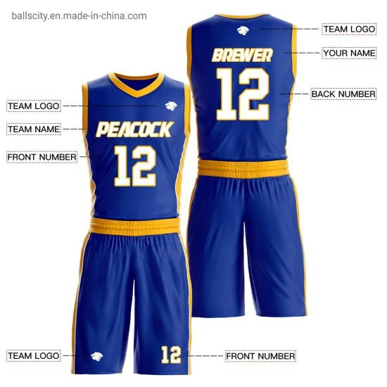 China Cool Men Basketball Jersey Sets