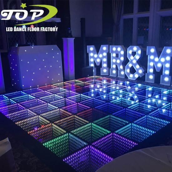 Magnetic Connection LED Infinity Dance Floor 3D Mirror
