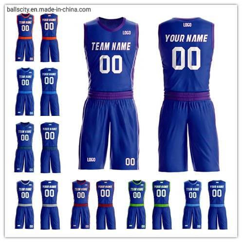 Round  Neck  Sportswear Gear Number and Name Team Club Sublimation Basketball Jerseys pictures & photos