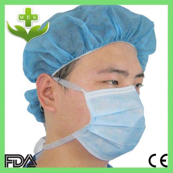 Earloop Mask Non-woven Tie-on Face Disposable Headloop