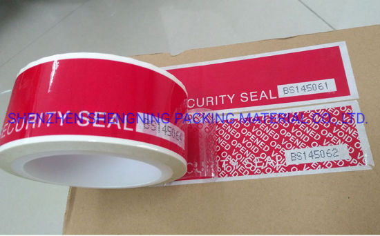 Secure Tamper Evident Void Open Self Adhesive Label Sticker