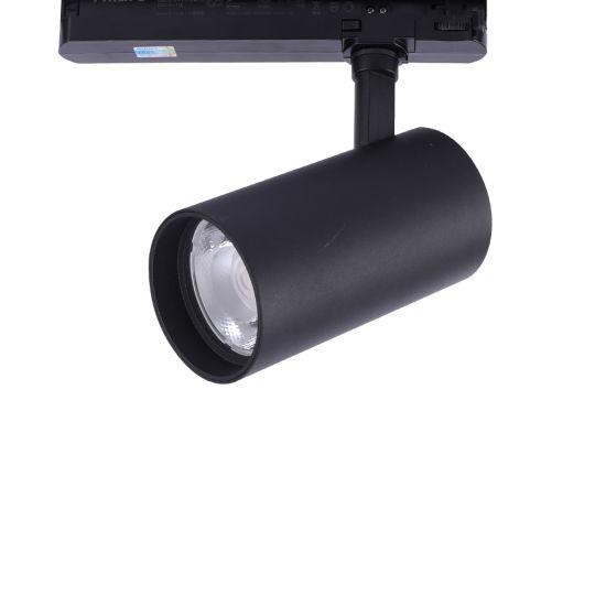 Energy Saving Shop Supermarket Ra>95 90lm/W 30W LED Track Lighting with 5 Year Warranty