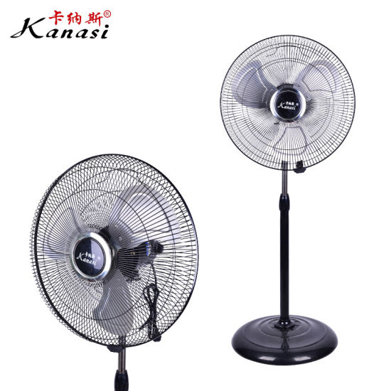 OEM Smart Modern Cheap Deluxe Super Electric Rotating AC Stand Fan of High Velocity and Crown Industrial