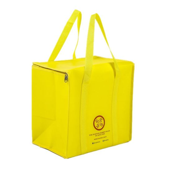 Seafood Laminated Insulated Lunch Non Woven Cooler Bag