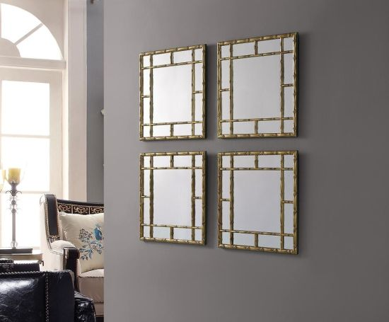 China 4pcs Per Set Antique Gold Decorative Wall Hanging Antique Wall Mirror For Sale China Wall Mirror Mirror Furniture