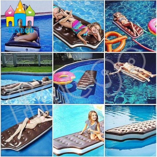 Inflatable Swimming Chocolate Pool Float Sofa Lounge Bed Float Toy pictures & photos