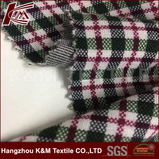 China Check Pattern Elastic Custom Printed Rayon Polyester
