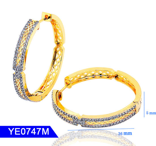 7a3cb77fe New Model Handmake Jewellery Sterling Silver or Copper Jewelry Cubic  Zirconia Long Large Hoop Earrings for