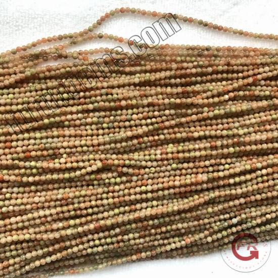 Loose Strand Gemstone Chinese Unakite Small Size 2mm3mm Mini Beads for Jewelry Making