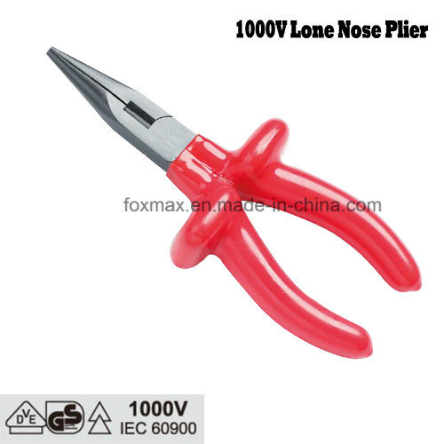 Insulated Long Nose Plier with Dipped Handle