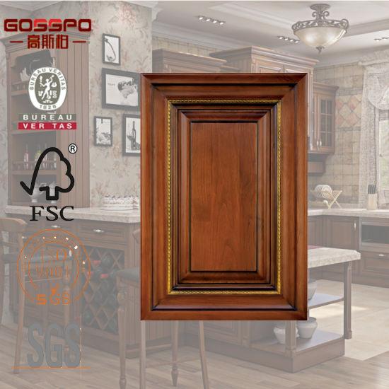 High Quality Mahogany Wood Kitchen Door Cabinets Design Gsp5 017