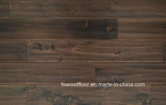 [Hot Item] Dark Walnut Hand Scraped Long Leaf Acacia Hardwood Flooring
