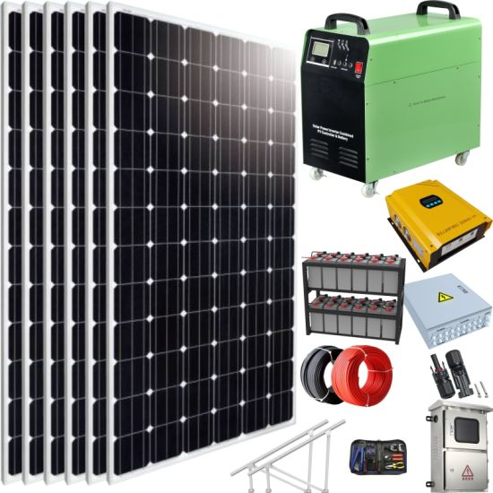 100kw Battery Solar Power Electricity Generating System for Home
