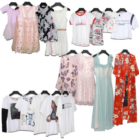 Used Clothing Bulk Second Hand Clothes for Lady Men Children