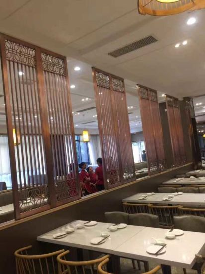 Custom Made Restaurant Screen Divider Metal Laser Cut Screens