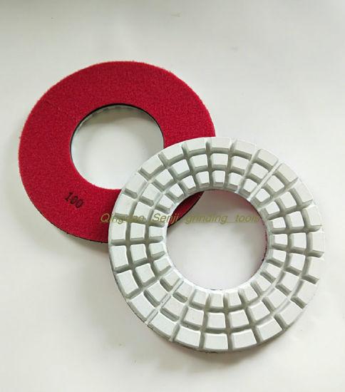 "4/"" Diamond Polishing 9 Pad Backer Grinding Cup Granite Concrete Masonry terrazzo"