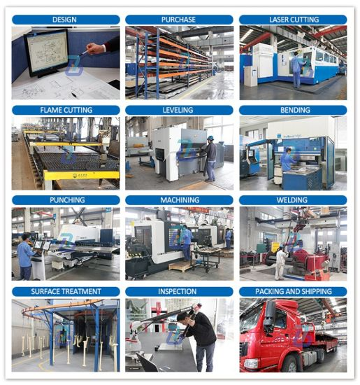High Quality Sheet Metal Fabrication Painting Steel Parts pictures & photos