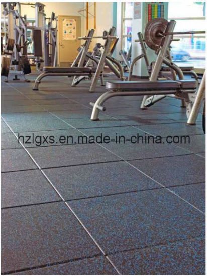China Crossfit Sport Gym Equipment Rubber Floor Tile Rubber Carpet