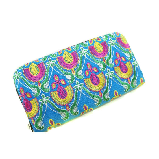 Fashion Dyed and Embroidered Fabric Wallet for Women pictures & photos