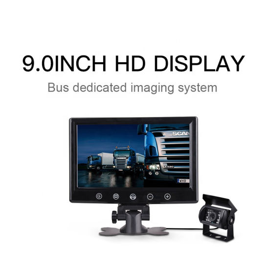 Factory Wholesales 4 Channels 9 Inch TFT LCD Car Monitor with Rear View Camera Trucks Bus Parking Reversing Aid System