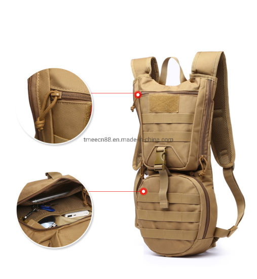 Outdoor Camping Water Bag Military Bottle Pouch Hydration Backpack Tactical S