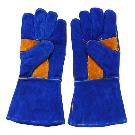 Leather Industrial Labor Safety Welding Gloves pictures & photos